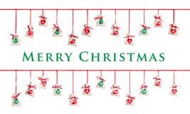 иконы элементов рождества шаржа календара пришествия приурочивают различное Стоковая Фотография