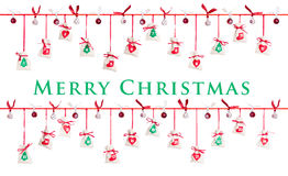 иконы элементов рождества шаржа календара пришествия приурочивают различное Стоковое Изображение
