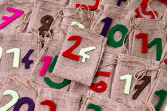 иконы элементов рождества шаржа календара пришествия приурочивают различное Стоковые Изображения