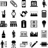 иконы дела Стоковые Изображения RF