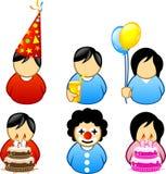 иконы дня рождения Стоковое фото RF