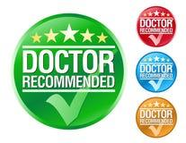 иконы доктора рекомендуют Стоковые Изображения RF