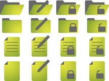 иконы документа Стоковые Изображения RF