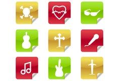 иконы 0 2 6 блогов тяжелых metal сеть утеса r Стоковое фото RF