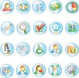 иконы 1 круглые Стоковое Изображение RF