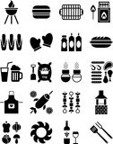 Иконы BBQ иллюстрация штока