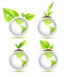 иконы eco земли Стоковые Изображения RF