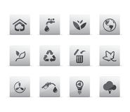 иконы eco иллюстрация вектора