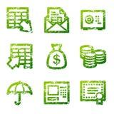 иконы grunge контура банка бесплатная иллюстрация