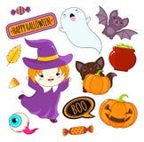 иконы halloween собрания Стоковая Фотография RF