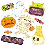 иконы halloween собрания Стоковые Изображения RF