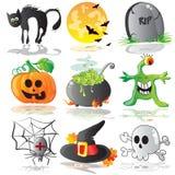 иконы halloween Стоковая Фотография