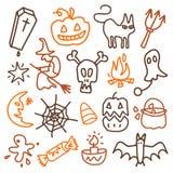 иконы halloween Стоковое фото RF