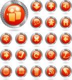 иконы metal красный цвет Стоковое Изображение