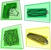 иконы vegetable Стоковая Фотография RF
