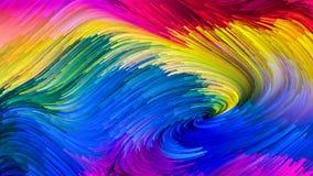 Иллюзия красочной краски Стоковая Фотография RF