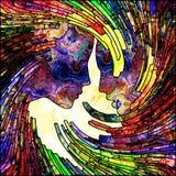 Иллюзия спирального цвета бесплатная иллюстрация