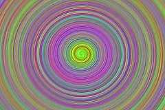 Иллюзорная спираль основной окружности предпосылки multicolor с ярким сияющим вращением цветов иллюстрация штока
