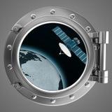 Иллюминатор обозревая корабль Стоковое фото RF