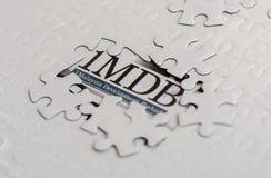 Иллюстративная передовица концепции скандала 1MDB стоковое изображение rf