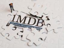 Иллюстративная передовица концепции скандала 1MDB стоковые фотографии rf
