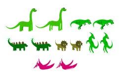 Иллюстрации динозавра шаржа иллюстрация вектора