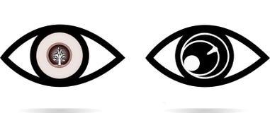 Иллюстрации значка глаза иллюстрация вектора