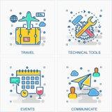 Иллюстрации значков и концепций дела бесплатная иллюстрация