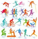 Иллюстрации различной спортивной деятельности Стоковое Фото