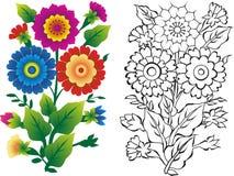 иллюстрации цветка стоковые изображения rf