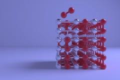 Иллюстрации CGI геометрические, concepture стиля молекулы, блокировать квадрата для графического дизайна или обоев E иллюстрация штока