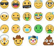 иллюстрации emoticons цветов вектор легкой editable установленный Комплект Emoji иллюстрация вектора