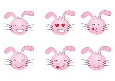 иллюстрации emoticons цветов вектор легкой editable установленный Комплект Emoji smiley части milo икон иконы установленный иллюстрация штока