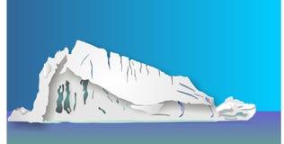 иллюстрация айсберга Стоковые Изображения RF
