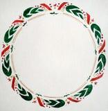 Иллюстрация акварели с венком рождества стоковые фото