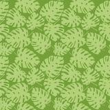 Иллюстрация акварели тропического зеленого цвета картины выходит картина monstera Рисующ для печатать, гаваиский стиль Бесплатная Иллюстрация