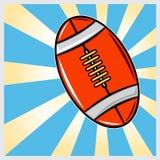 Иллюстрация американских футбол Стоковое фото RF