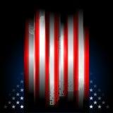 иллюстрация американского флага играет главные роли нашивки Стоковые Изображения RF