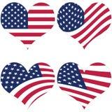 иллюстрация американского флага Стоковая Фотография
