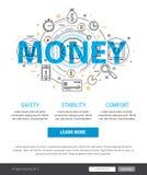 Иллюстрация банковского обслуживания и концепции финансов Стоковое Изображение
