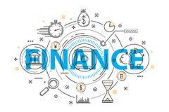 Иллюстрация банковского обслуживания и концепции финансов Стоковые Изображения