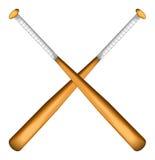 иллюстрация бейсбольных бита графическая деревянная Стоковое Изображение RF