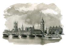 Иллюстрация большого Бен бесплатная иллюстрация