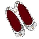 Иллюстрация ботинок балета Стоковое Изображение RF