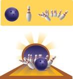иллюстрация боулинга Стоковое Изображение RF