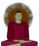 иллюстрация Будды Стоковые Изображения RF