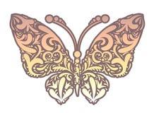 Иллюстрация вектора абстрактной флористической бабочки Стоковые Фотографии RF