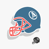 Иллюстрация вектора американского футбола шлема Стоковые Фото