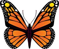 Иллюстрация вектора бабочки Стоковое Изображение RF