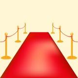 Иллюстрация вектора барьеров золота Событие vip красного ковра церемониальные или посещение главы государства Стоковое фото RF